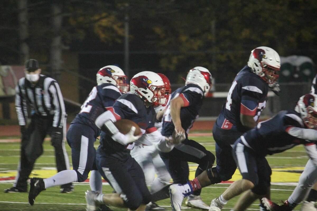 Big Rapids scored its first football win of the season with a 28-13 topping of Chippewa Hills on Friday.