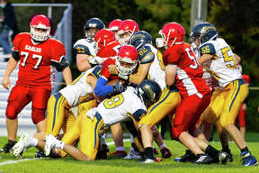 The North Huron Warriors traveled to Caseville on Friday night, where the Warriors rolled past the Eagles, 54-6 and improved to 3-0 on the season.