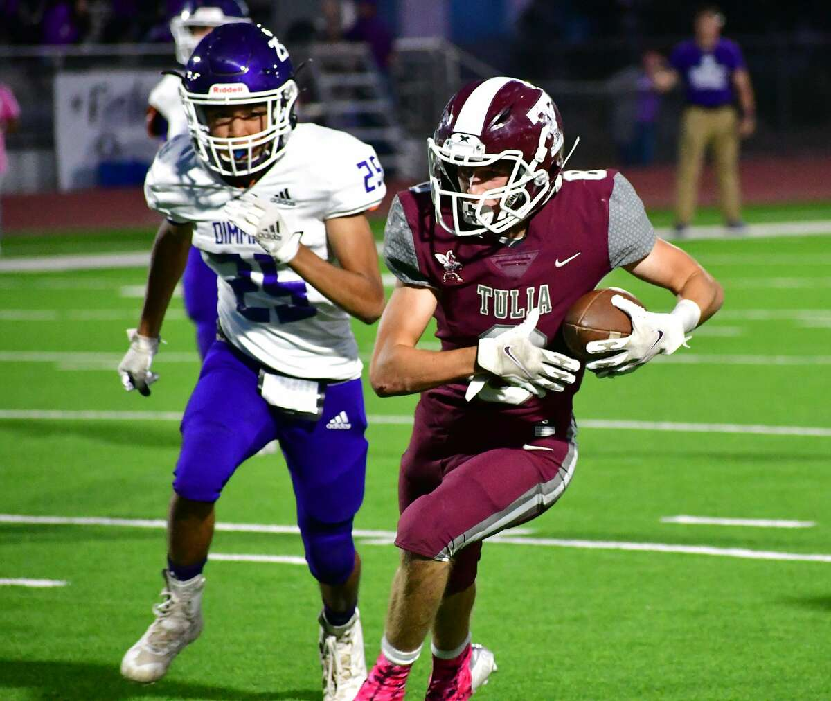 Tulia rolled past Dimmitt 47-18 in a district 3-3A Division II high school football game on Friday, Oct. 2, 2020 at Tulia.