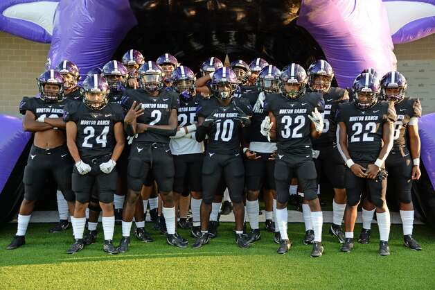 The Morton Ranch Mavericks prepare to take the field for a non-conference football game with the Paetow Panthers on Friday, October 2, 2020 at Legacy Stadium, Katy, TX. Photo: Craig Moseley/contributor / ©2020 Craig Moseley