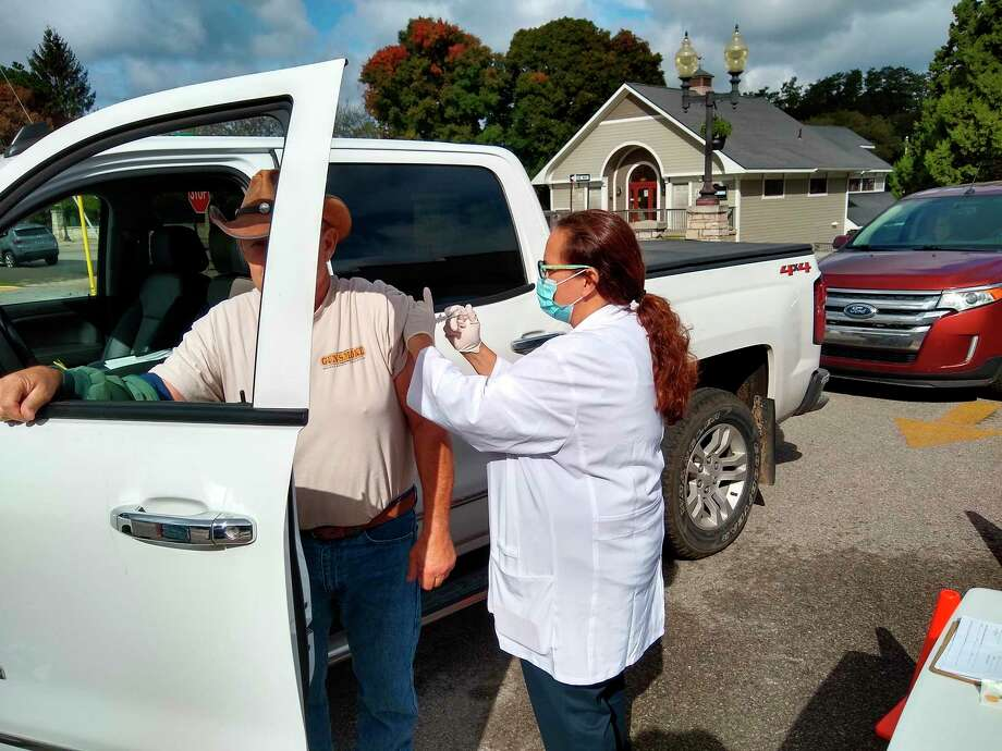 The senior center held a drive through flu shot clinic on Wednesday. Rite Aid spent time at the senior center administering flu shots to local seniors. (Courtesy Photo)