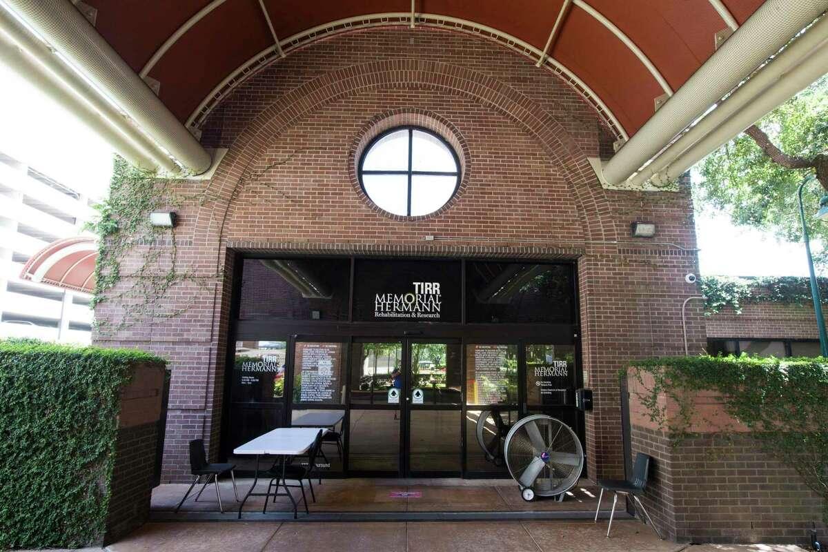 The front entrance of TIRR Memorial Hermann is shown on Thursday, July 23, 2020 in Houston.