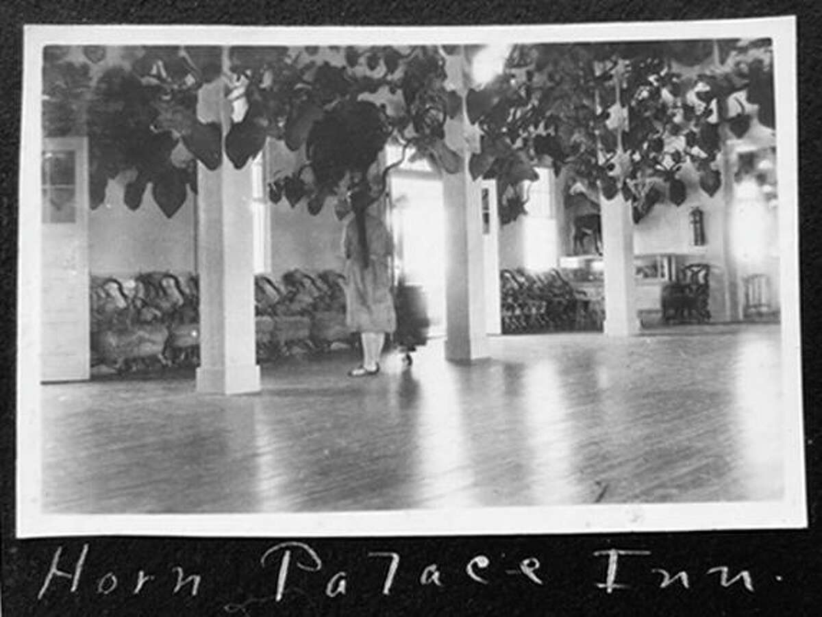 A sunny, spacious lobby was a highlight of the early days of the Horn Palace in 1915, before it gained a reputation as a rowdy venue as it moved to various locations around San Antonio.