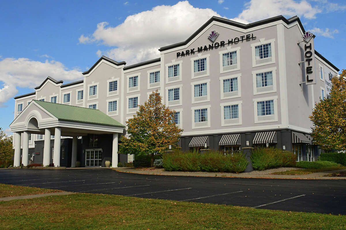 The former Park Manor Hotel is for sale on Thursday, Oct. 1, 2020 in Clifton Park, N.Y. (Lori Van Buren/Times Union)