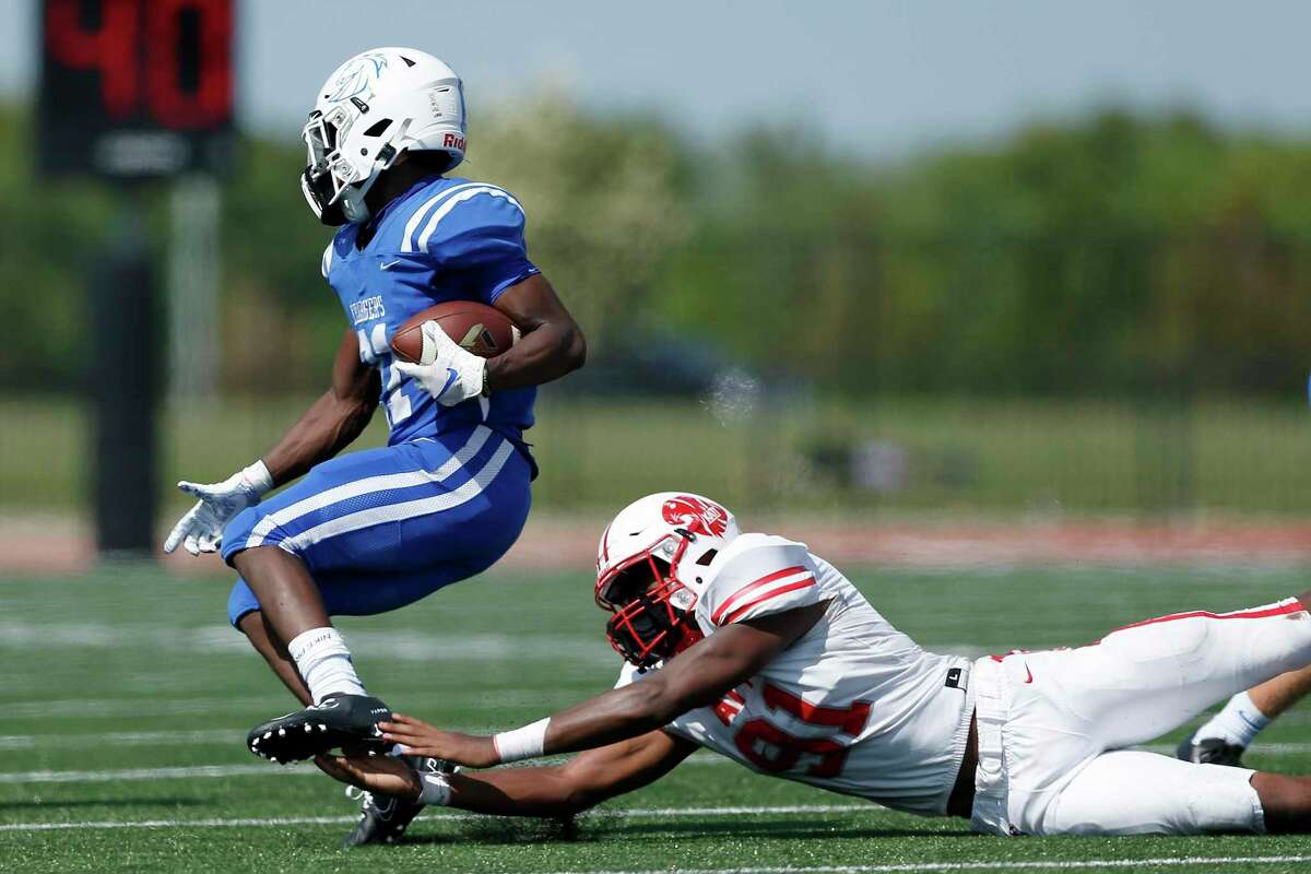 Clear Springs' Ky Woods, shown last week against Katy, accounted for Clear Springs' only touchdown Saturday with a 77-yard kickoff return in a 10-7 loss to Katy Tompkins.
