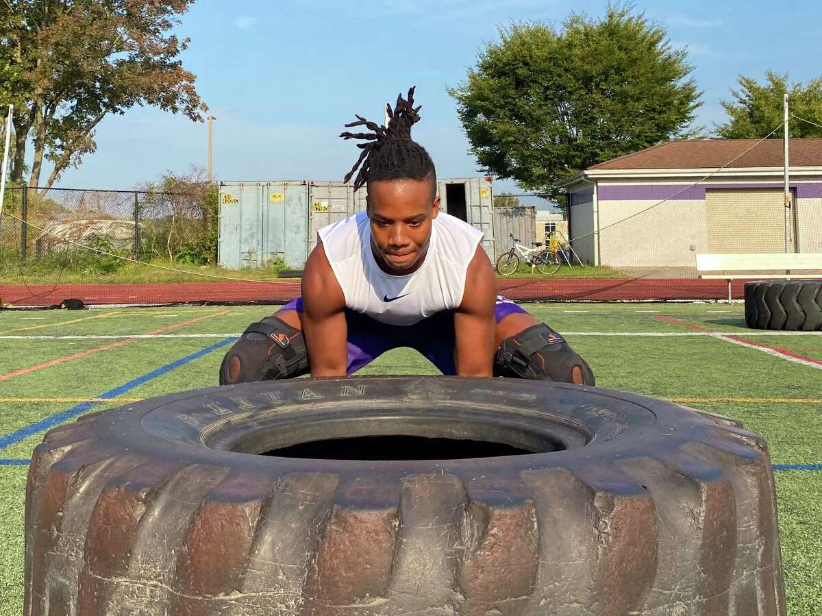 Kobe Givens is a two-year captain for the Westhill football team.