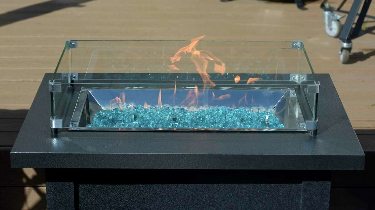 A fire table on display at House of Warmth in New Milford, Conn., Friday, Oct. 2, 2020.