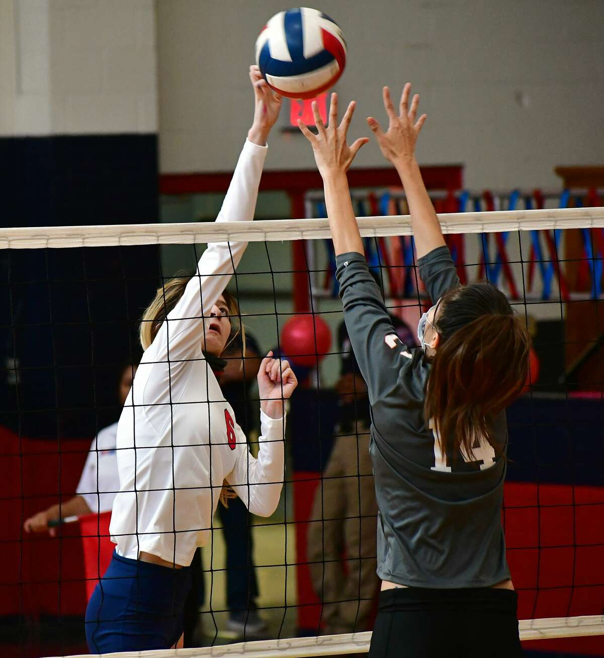 The Plainview volleyball team overcame a 2-1 deficit to defeat Amarillo Caprock in five sets in their District 3-5A high school volleyball game on Saturday, Oct. 3, 2020 in the Dog House at Plainview High School.