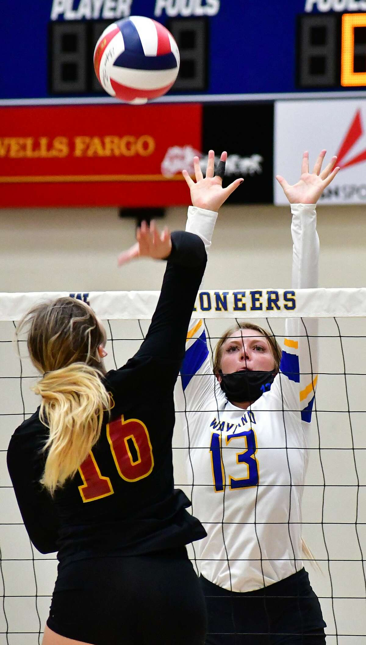 The Wayland Baptist volleyball team fell 3-0 to Arizona Christian in its season opener on Saturday, Oct. 3, 2020 in the Hutcherson Center.