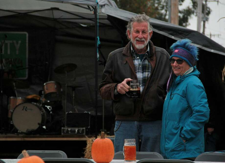 Residents braved the cold Saturday as they celebrated Reed City's inaugural Octoberfest Celebration. Hosted by Reed City Brewery, live music played as guests enjoyed German-inspired beer and food. Photo: (Pioneer Photo/Alicia Jaimes)