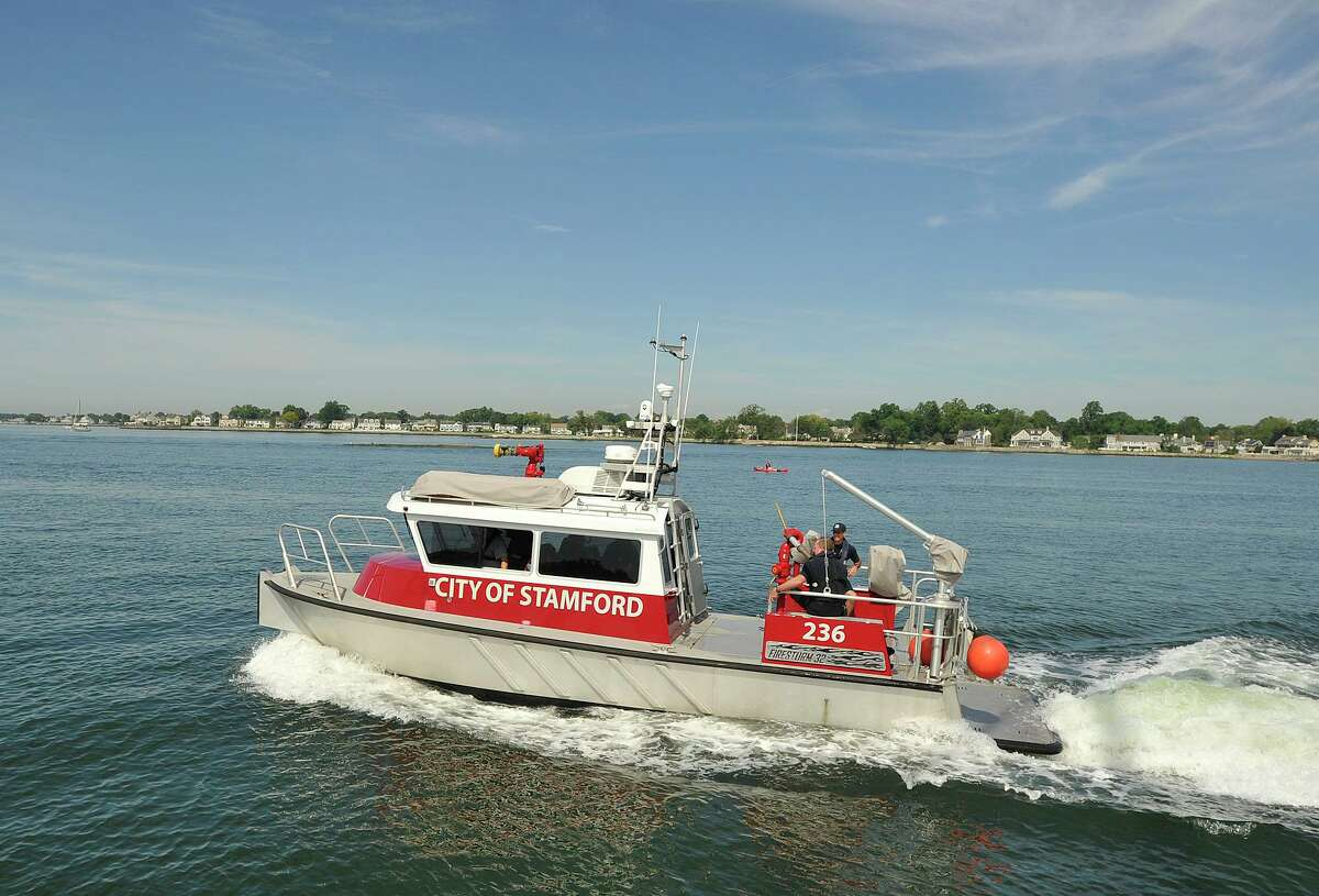 The Stamford Fire Department's fire boat in a file photo