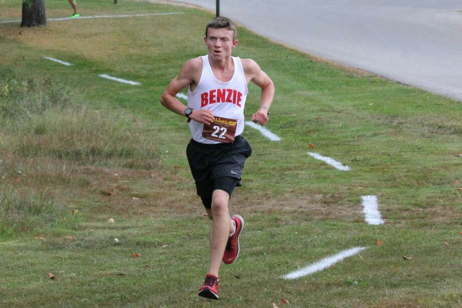Benzie Central's Hunter Jones races during a home conference meet on Sept. 29. Jones picked up another victory on Oct. 3 at Shepherd Photo: Robert Myers