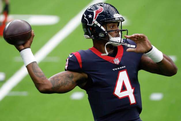 Houston Texans quarterback Deshaun Watson (4) warms up before an NFL football game at NRG Stadium on Sunday, Oct. 4, 2020, in Houston. Photo: Brett Coomer, Staff Photographer / © 2020 Houston Chronicle
