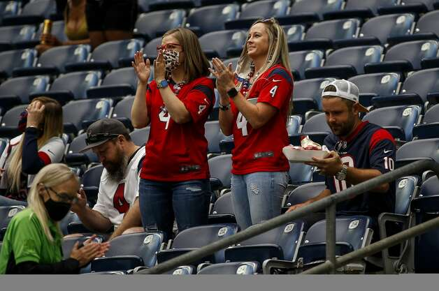 Fans cheer during the first quarter of an NFL game on Sunday, Oct. 4 2020, at NRG Stadium in Houston. Photo: Jon Shapley/Staff Photographer / © 2020 Houston Chronicle