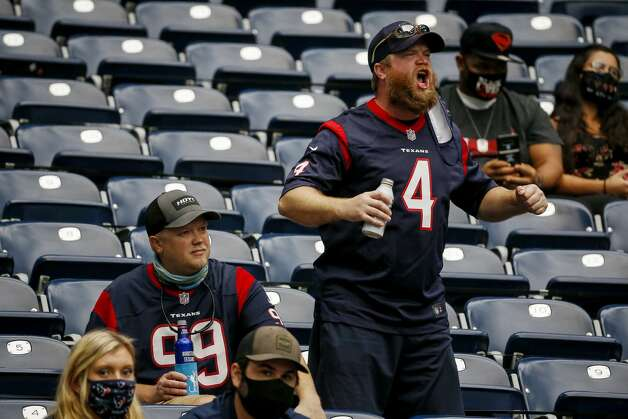 Houston Texans fans cheer during the fourth quarter of an NFL game on Sunday, Oct. 4 2020, at NRG Stadium in Houston. Photo: Jon Shapley/Staff Photographer / © 2020 Houston Chronicle