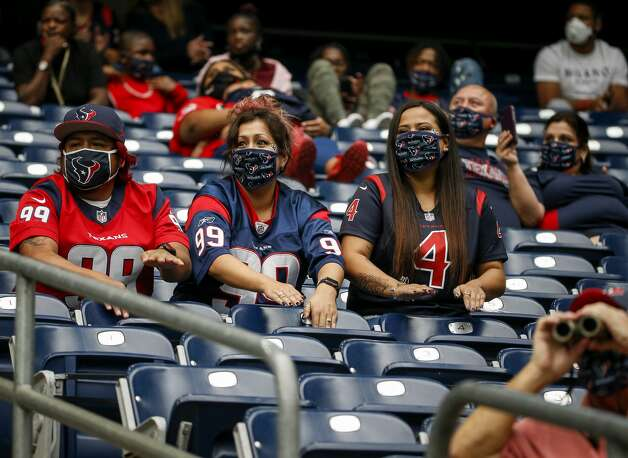 Houston Texans fans cheer during the second quarter of an NFL game on Sunday, Oct. 4 2020, at NRG Stadium in Houston. Photo: Jon Shapley/Staff Photographer / © 2020 Houston Chronicle