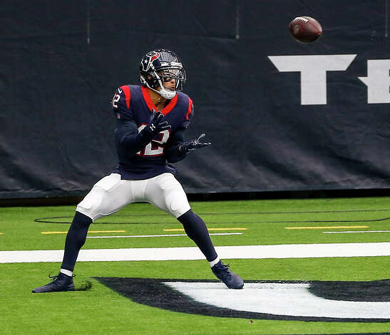 Houston Texans wide receiver Kenny Stills (12) catches a touchdown pass during the fourth quarter of an NFL game on Sunday, Oct. 4 2020, at NRG Stadium in Houston. Photo: Jon Shapley/Staff Photographer / © 2020 Houston Chronicle