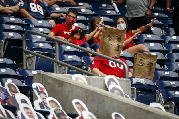 Houston Texans fans watch during the second quarter of an NFL game on Sunday, Oct. 4 2020, at NRG Stadium in Houston. Photo: Jon Shapley/Staff Photographer / © 2020 Houston Chronicle