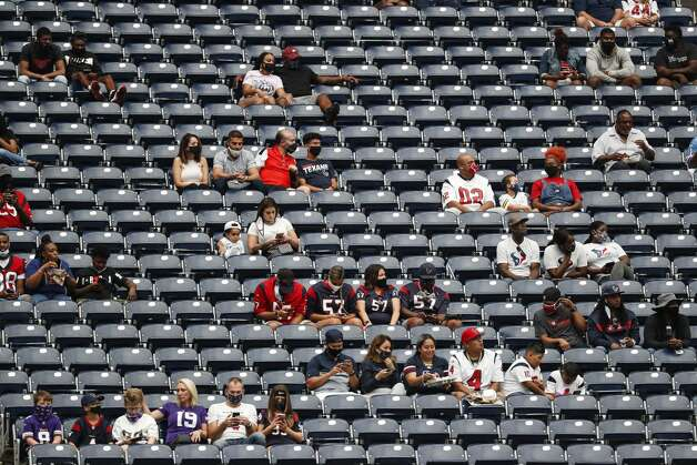 Houston Texans fans watch during the third quarter of an NFL football game socially distanced in the seats at NRG Stadium on Sunday, Oct. 4, 2020, in Houston. Photo: Brett Coomer/Staff Photographer / © 2020 Houston Chronicle