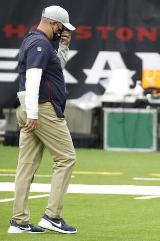 Houston Texans head coach Bill O'Brien walks off the field as the clock winds down during the fourth quarter of an NFL football game against the Minnesota Vikings at NRG Stadium on Sunday, Oct. 4, 2020, in Houston. The Vikings beat the Texans 31-23, to drop the Texans to 0-4 on the season. Photo: Brett Coomer/Staff Photographer / © 2020 Houston Chronicle