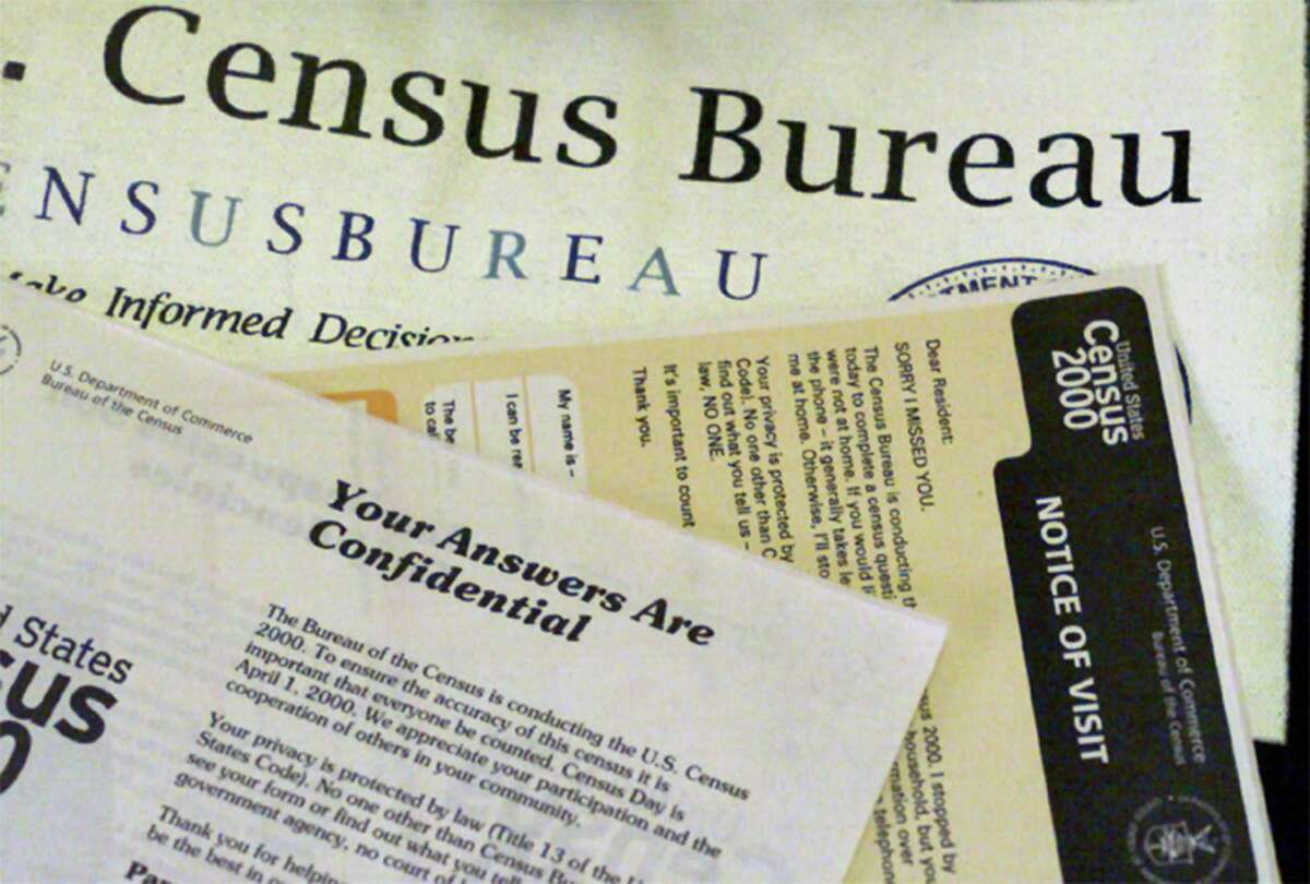Shown is the paperwork used by census takers in 2000.