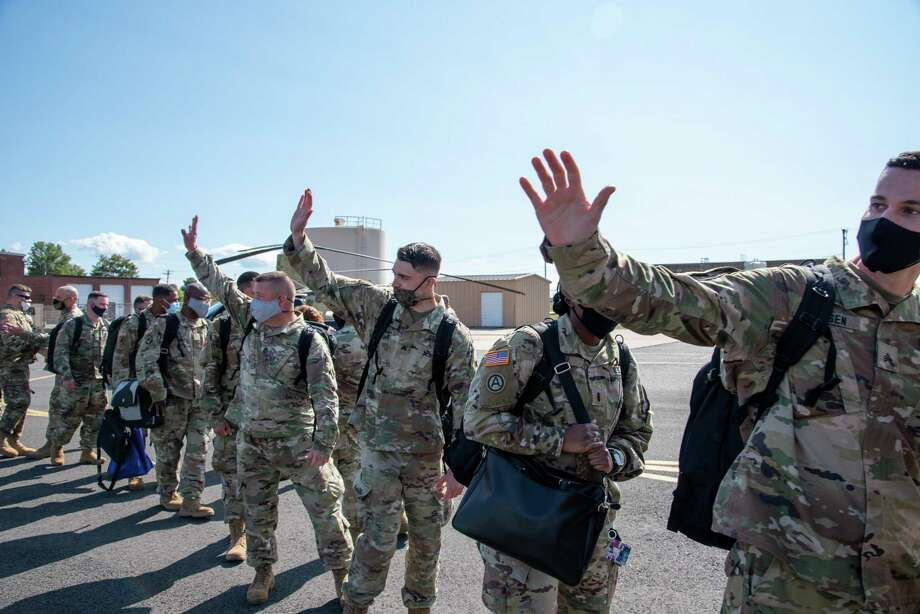 Middletown's 143rd Regional Support Group has been deployed in support of Operation Spartan Shield, according to the Connecticut National Guard. Photo: / Connecticut National Guard / Contributed