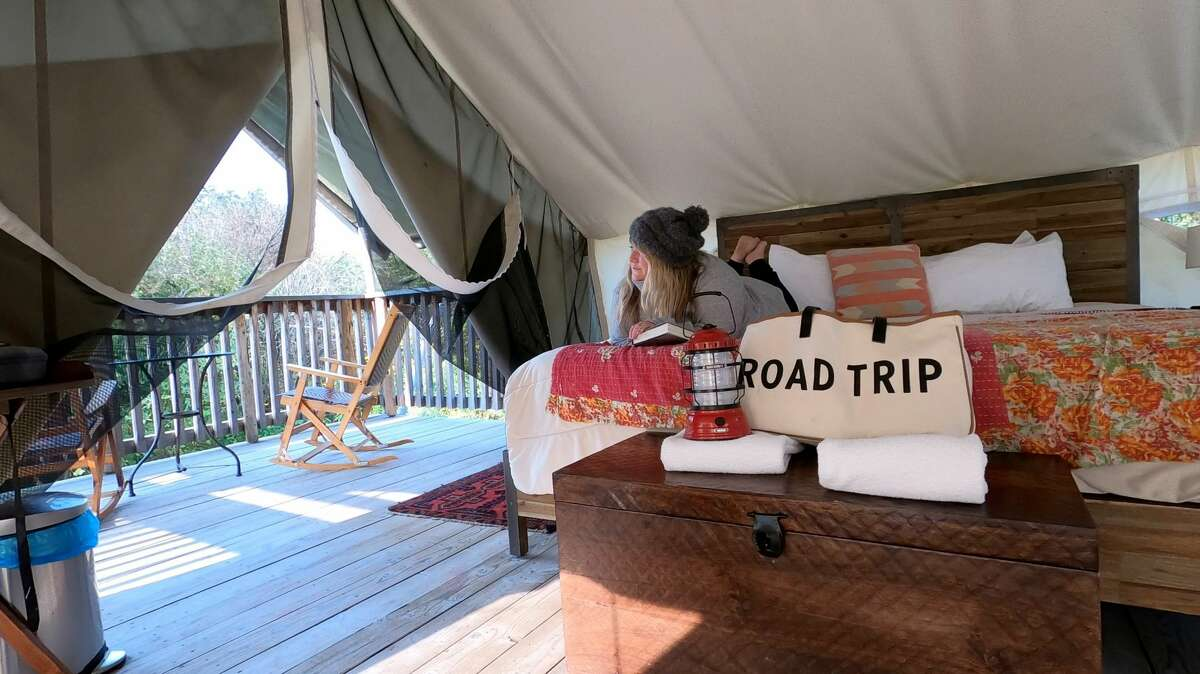 Camping at Firelight Camps doesn't have to mean setting up your own tent and a sleeping bag.