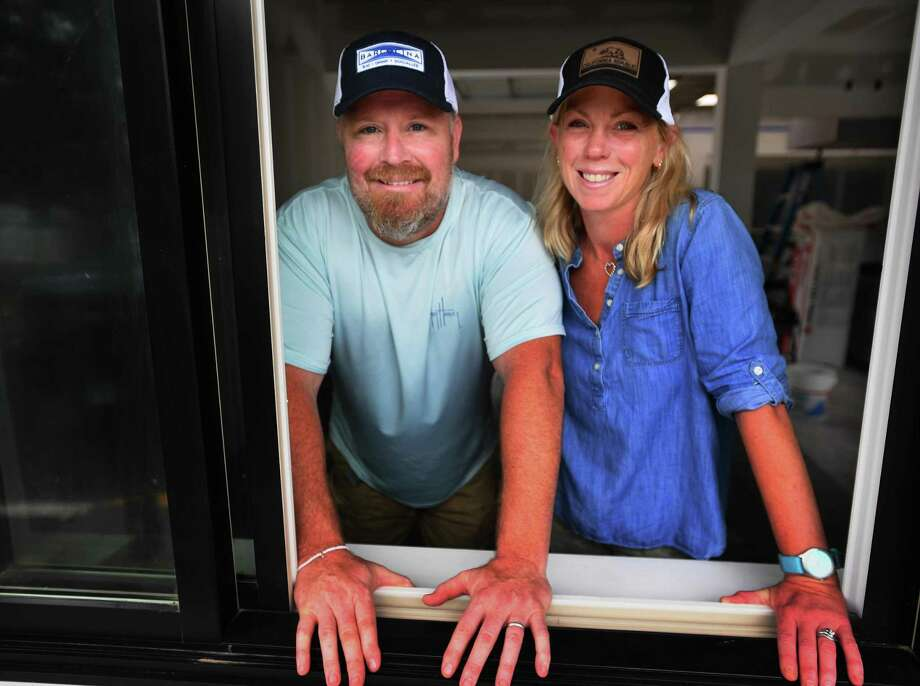 Jason and Bridget Lesizza added a takeout window to the Reef Shack, their new fast casual marketplace and grill at 257 Reef Road in Fairfield. The couple is planning on a late October opening for the business. Photo: Brian A. Pounds / Hearst Connecticut Media / Connecticut Post