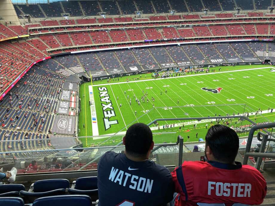The view from Section 613 on Sunday when the Texans allowed just 12,102 fans inside NRG Stadium for their game against the Minnesota Vikings on Sunday, Oct. 4, 2020. Photo: Matt Young, Chron.com