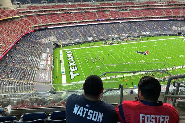 The view from Section 613 on Sunday when the Texans allowed just 12,102 fans inside NRG Stadium for their game against the Minnesota Vikings on Sunday, Oct. 4, 2020.