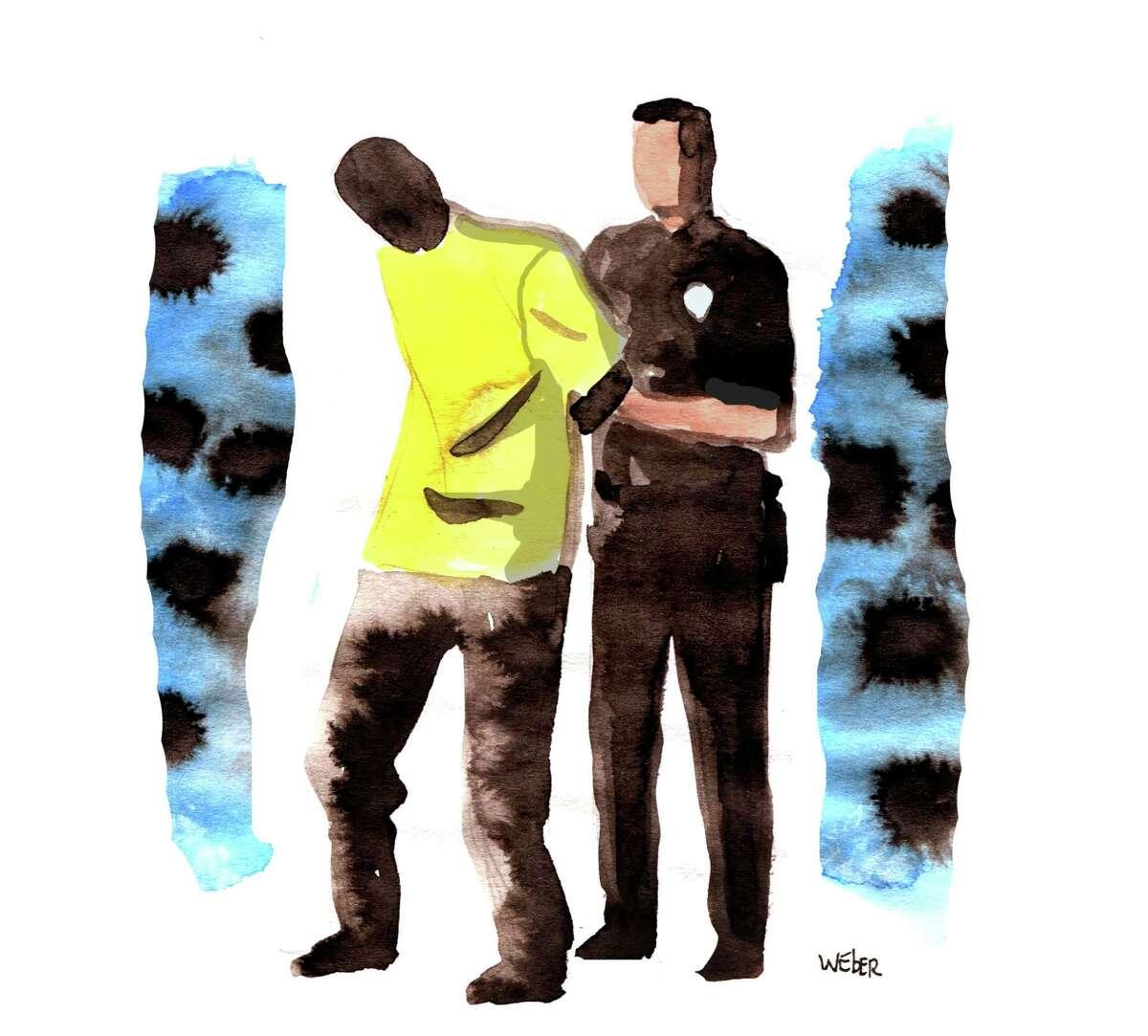 Racial profiling illustration