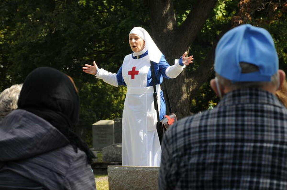 Missy Chapman portrays an Alton Sty. Joseph's Hospital nurse during the 1918 Spanish Flu Pandemic.