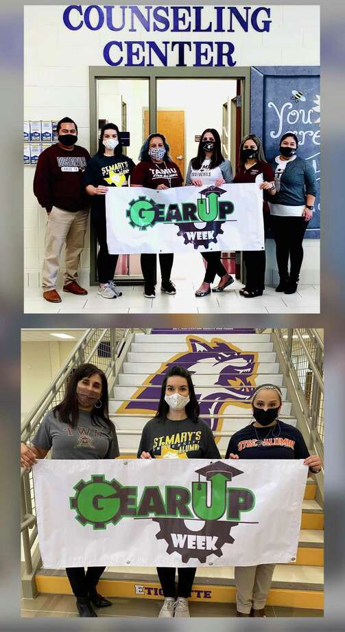 A Gear Up Awareness Week was held recently where students and staff wore apparel from colleges. Photo: Courtesy