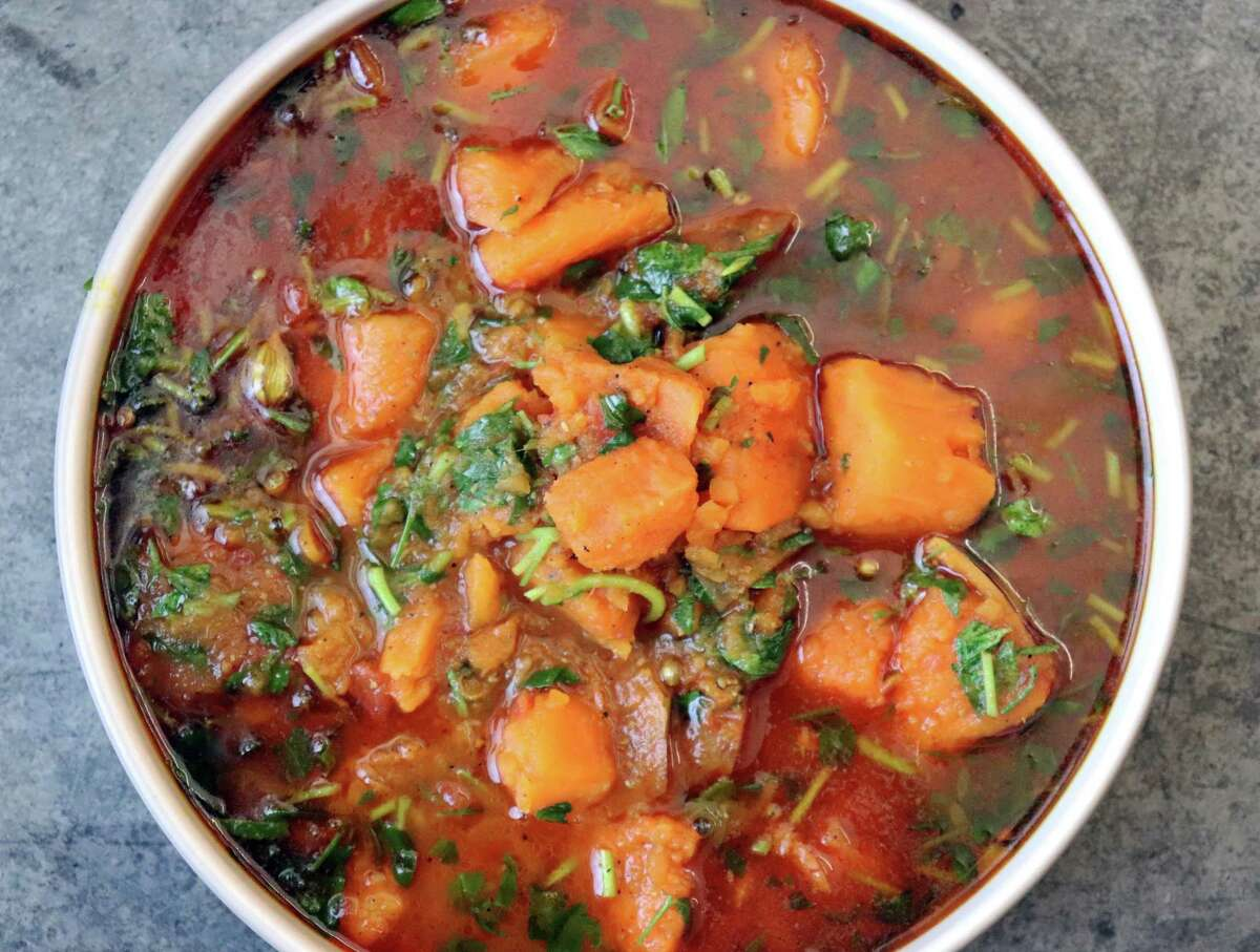 Fragrant fenugreek adds aroma to Autumn Stew.
