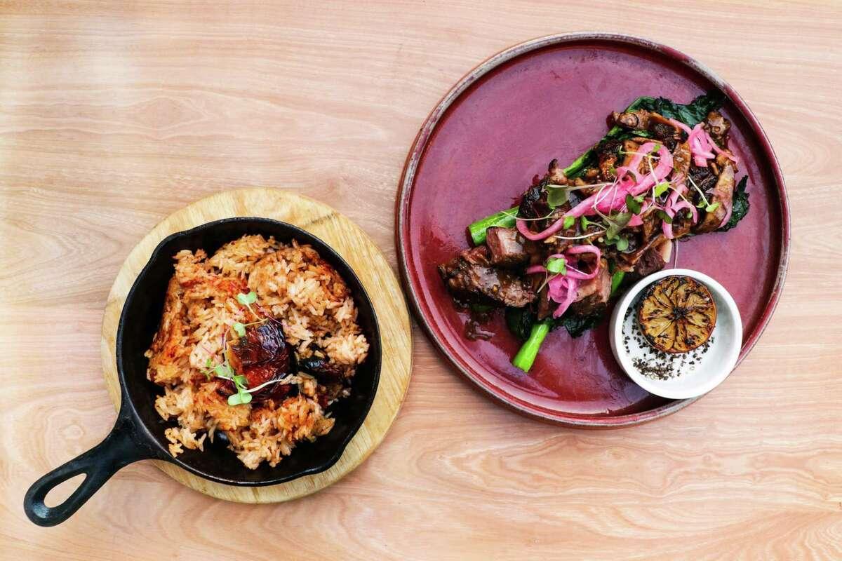 Xin Chao's Houston Restaurant Weeks menu includes Shake 'n Steak, shaken beef-style Texas wagyu.