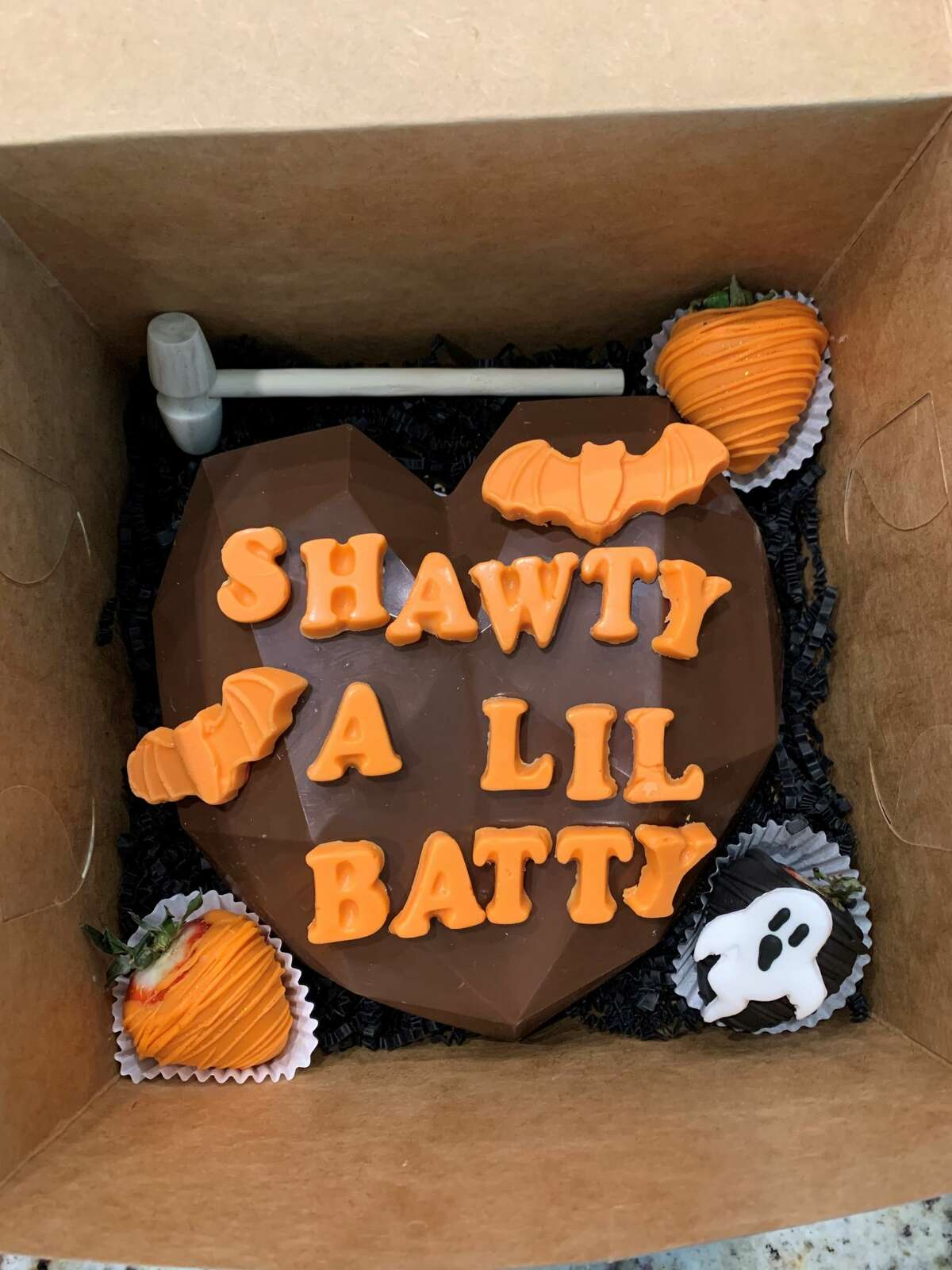 Meekaela Zimmer, a 20-year-old San Antonio College student, is making and selling Halloween-themed smash boxes for the spooky season.