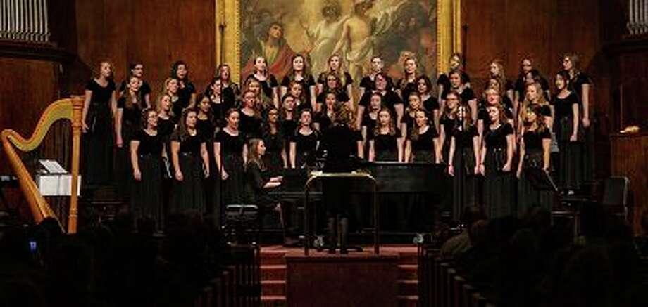 The lyric choir performs in War Memorial Chapel 10/12/2019 (David Ruiz) / Copyright 2019 BJU, all rights reserved