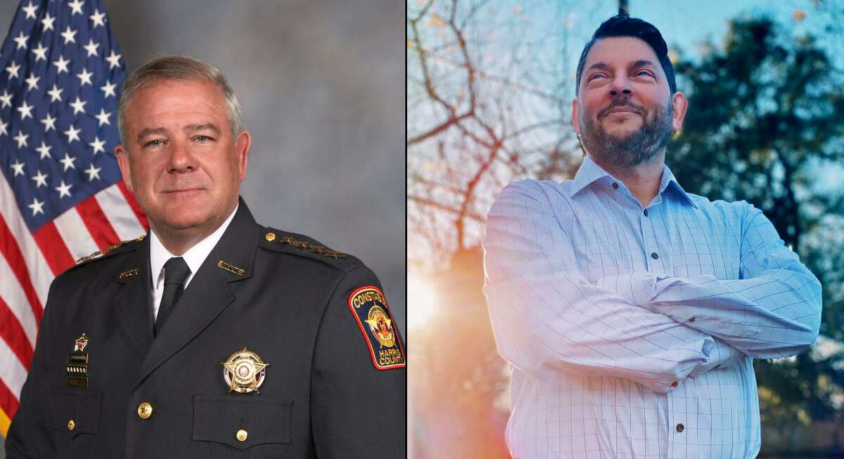 Ted Heap, left, and Mark Alan Harrison are squaring off in the Harris County Precinct 5 constable race. Early voting begins Tuesday, Oct. 13.