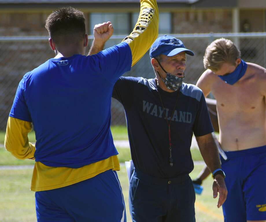 Head coach Butch Henderson finally knows the schedule that awaits the Wayland Baptist football team this spring. Photo: Nathan Giese/Planview Herald