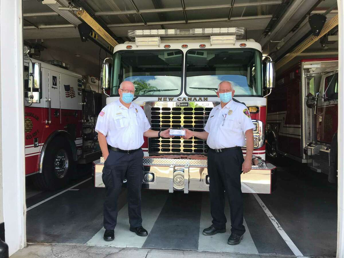 Fred Baker and Jack Hennessey of the New CanaanFire Department
