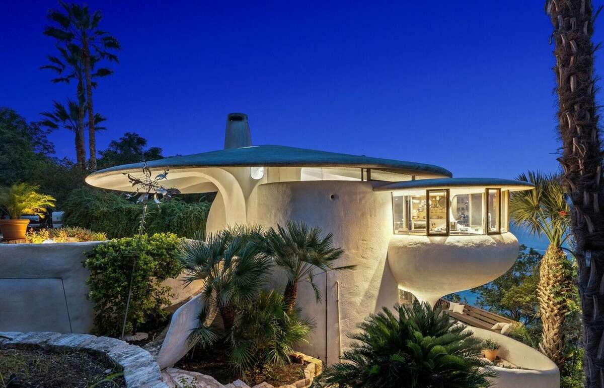 An iconic piece of architecture that's shaped in the form of mushroom is now on the market near Austin, Texas for $2.2 million.