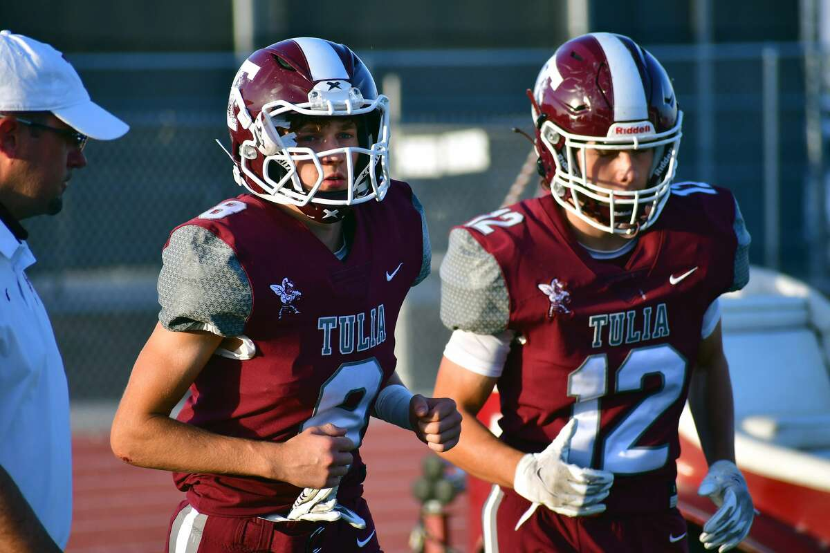 Hayden Montgomery, center, does a little bit of everything for the Tulia football team as he tries to leave behind a lasting legacy for the program.