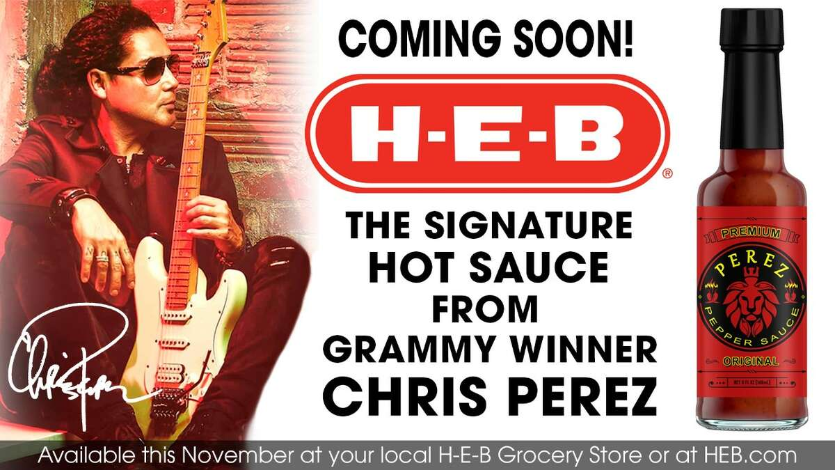 Chris Perez's signature hot sauce brand will be on H-E-B shelves next month.