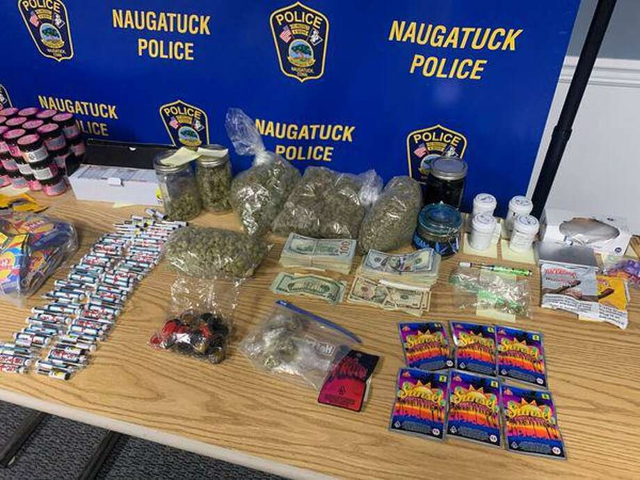 A child was hospitalized after he and a friend bought and ate marijuana edibles from two people who now face charges, police said. Photo: Naugatuck Police Department / Contributed Photo