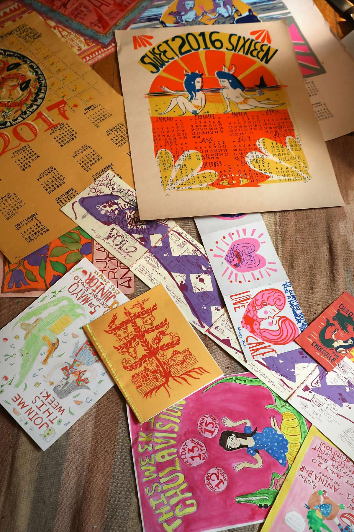 Vannessa Gonzalez's artwork. The self-taught cook attended Academy of Art University for printmaking in S.F.