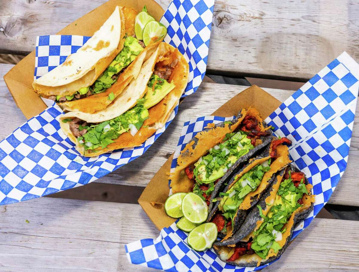 Tacos are part of the menu at Chilaquil, a new Mexican food stall opening at the Bottling Department food hall at the Pearl.