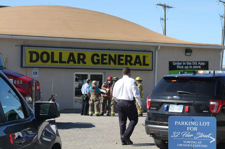 The Manistee City Fire Department was called to a report of a possible fire at Dollar General, 65 Division St. on Monday. Photo: Kyle Kotecki/News Advocate