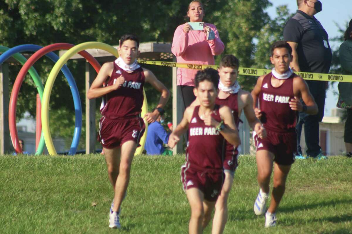 A pack of Deer Park runners come down