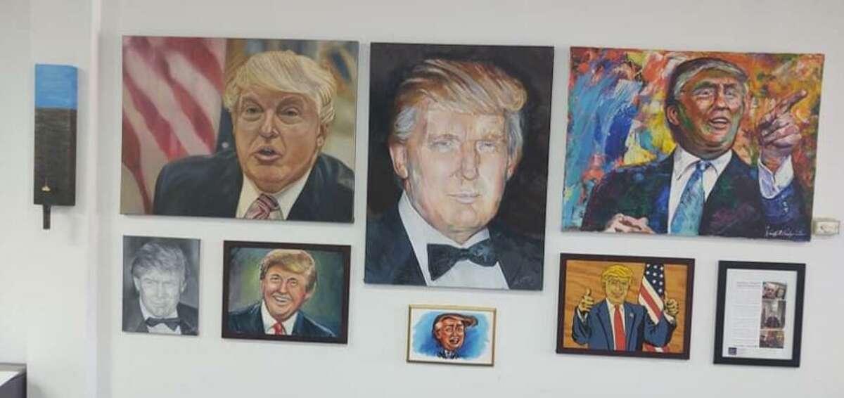 The Trump art gallery in Katy features nine original pieces of art.