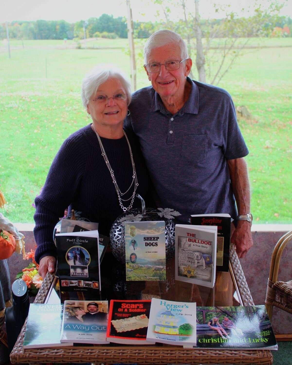 """Writing 10 books in 26 years, Morley resident Gordon Galloway said he has written his final book, """"Sheep Dogs."""" During his career as an author, Galloway said he received significant help from his wife, Mary Ann, as she helped to type his stories. (Courtesy photo)"""